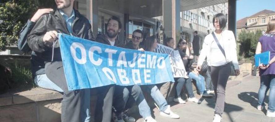 Studenti Fakulteta primenjenih umetnosti protestovali ispred Ministarstva prosvete