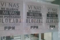 Studenti UB i dalje protestuju: blokiran i FPN