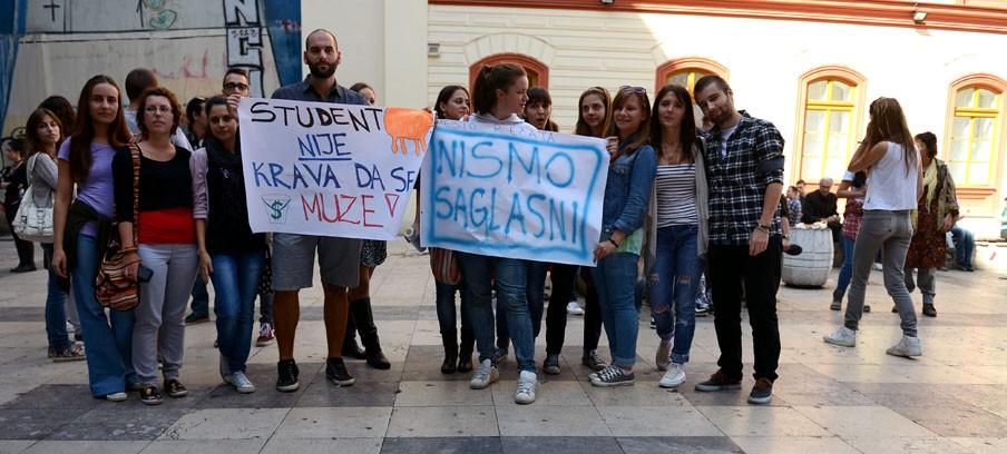 Protest studenata u Nišu