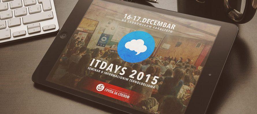 """Seminar """"IT Days 2015"""" na Ekonomskom fakultetu"""