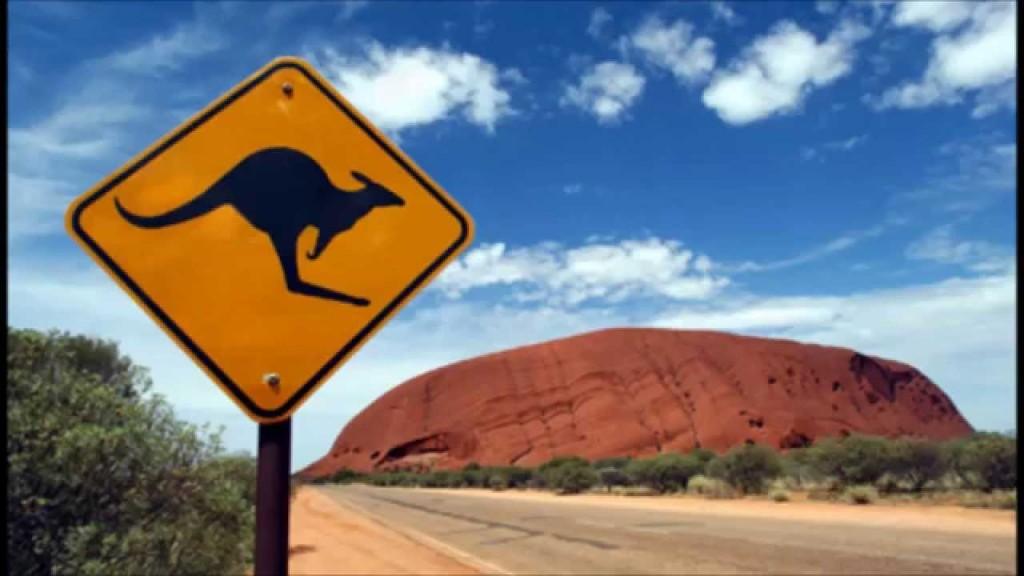 australija znak pustinja