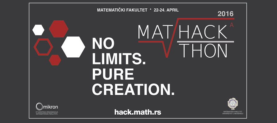 "MatHackathon ""No limits. Pure creation."" od 22. do 24. aprila"