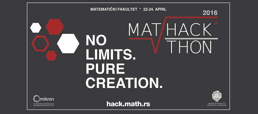 """MatHackathon """"No limits. Pure creation."""" od 22. do 24. aprila"""