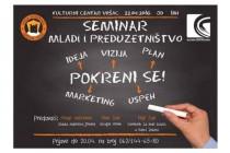 "Vršac: Prijave za seminar ""Mladi i preduzetništvo"""