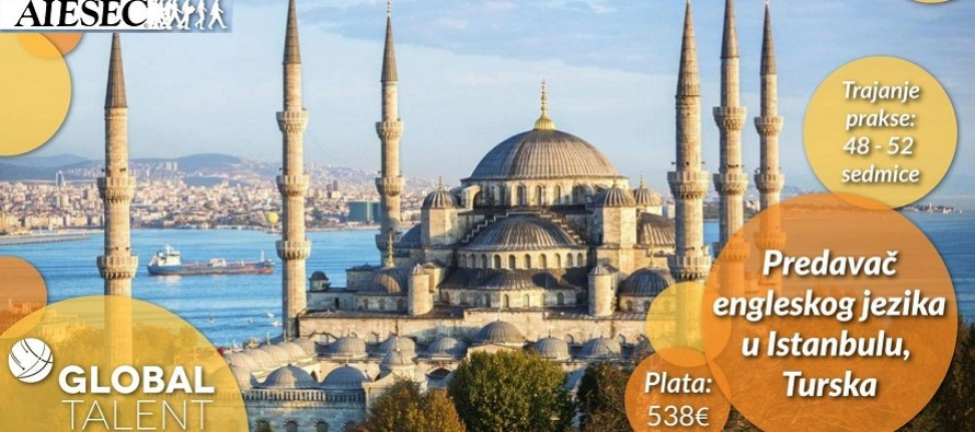 Global Talent: Budi predavač jezika u Istanbulu!