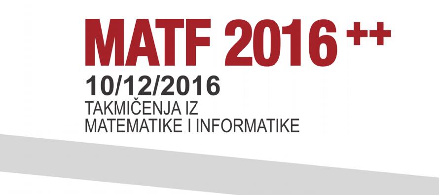 Prijava za MATF 2016 ++
