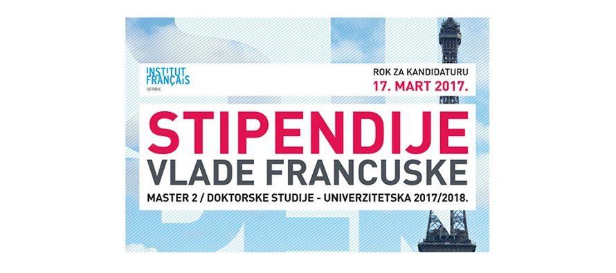 Stipendije Vlade Francuske za akademsku 2017/2018. godinu