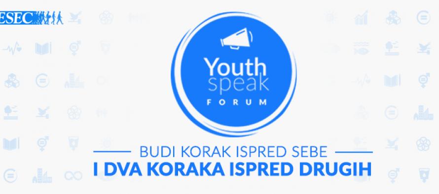 Youth Speak forum u Beogradu!